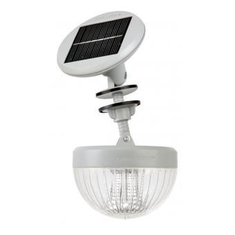 Lampe solaire pour abris de jardin en résine, bois et métal ...