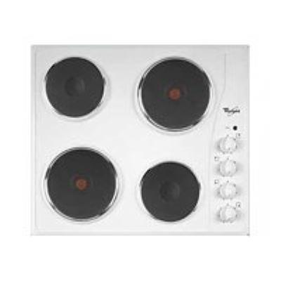 Whirlpool AKM332BL - Table de cuisson électrique - 4 plaques de cuisson - largeur : 58 cm - profondeur : 50 cm - blanc