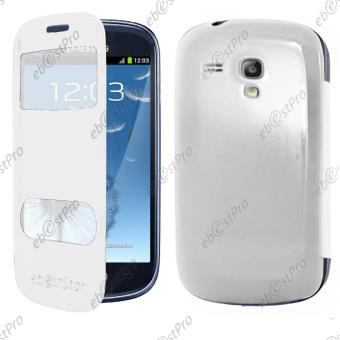 ebestStar ® pour Samsung Galaxy S3 Mini GT-i8190, i8190N - Housse Coque Etui Smart View Cover type S-View Portefeuille Livre Film protection ...