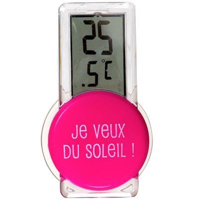 Thermomètre Digital d'extérieur - Fushia
