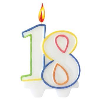 Bougie Anniversaire bougie anniversaire 18 ans - article de fête - achat & prix | fnac