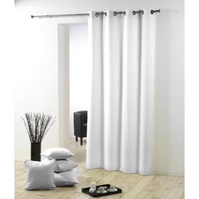 Douceur d'intérieur 1603527 rideau oeillets en polyester/métal blanc 280 x 140 cm
