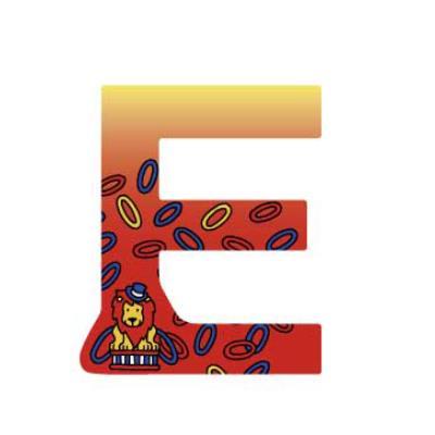 Lettre décoration Circus E