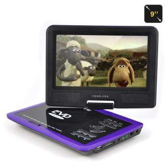 lecteur dvd portable fengjida 9 pouces violet ecran lcd rotatif support usb voiture appui t te. Black Bedroom Furniture Sets. Home Design Ideas