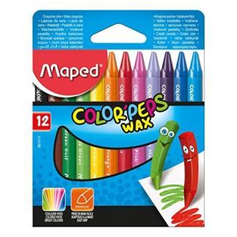 Caixa de Lápis de Cera Color Peps Wax - 12 Unidades