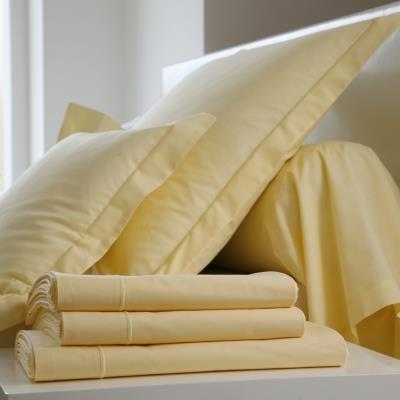 Taie d'oreiller Coton BLANC DES VOSGES 65 x 65 cm Jaune