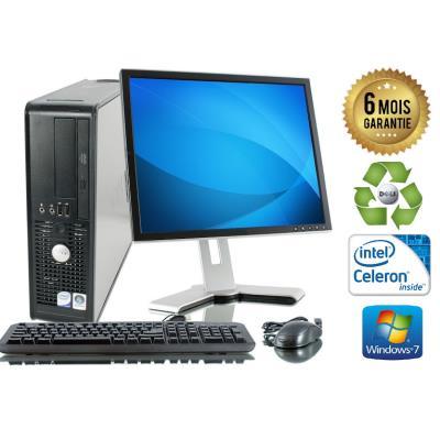 Unite Centrale Dell Optiplex 380 SSF Intel Celeron E3300 2,5Ghz Mémoire Vive RAM 8GO Disque Dur 1 TO Graveur DVD Windows 7 - Ecran 19(selon arrivage) - Processeur Intel Celeron E3300 2,5Ghz RAM 8GO HDD 1 TO Clavier + Souris Fournis