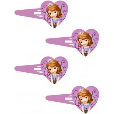 Barrettes à cheveux princesse Sofia (x4) Fées / Princesses