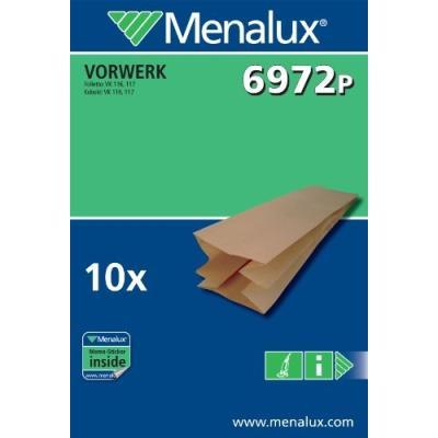 MENALUX 6972P 10 SACS ASPIRATEUR COMPATIBLE POUR VORWEK / FOLLETTO / KOBOLT