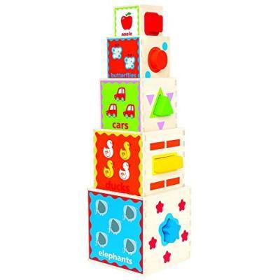 Hape - e0413 - jouet de premier age - pyramide de jeu