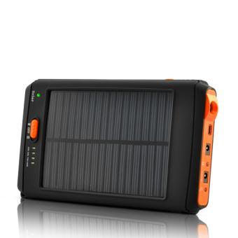 chargeur solaire haute capacite et batterie avec lampe de poche