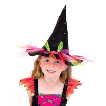 gamme exclusive Pré-commander prix plancher Chapeau de Sorcière sauvage rose - déguisement pour enfant ...