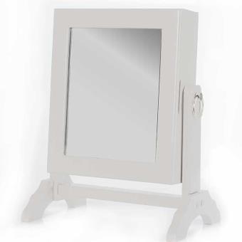 armoire pr sentoir bijoux miroir pivotant 54 emplacements rangement bo te de classement. Black Bedroom Furniture Sets. Home Design Ideas