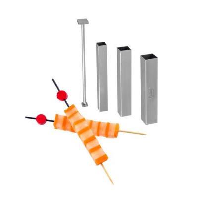Louis tellier id1207 design culinaire kit de 3 tubes carrés découpoir