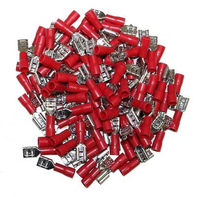 Cosses Electriques Plates Femelles Rouges 4.7 Sachet De 100 Cosses