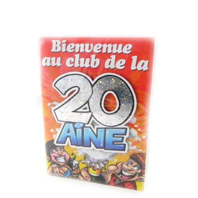 Carte Anniversaire 20 Ans Achat Prix Fnac