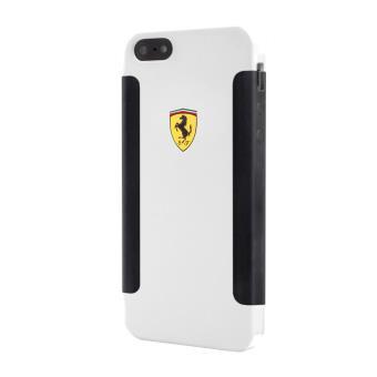 Coque Ferrari noire et blanche anti choc pour iPhone 5s