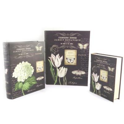 Les Trésors De Lily [N1460] - Trio de boites de rangement 'Jardin Botanique' noir beige