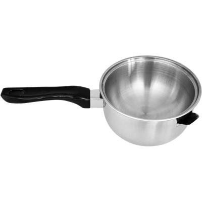 Casserole bain marie double fond - Inox - 1L - 17cm