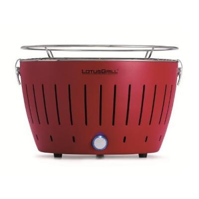 LotusGrill Barbecue de table sans fumée au charbon de bois avec système Turboboost Rouge