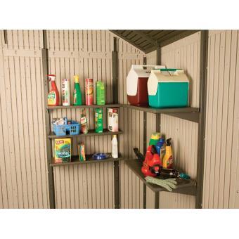 Kit de 5 étagères pour abri de jardin PVC Lifetime - Mobilier de ...