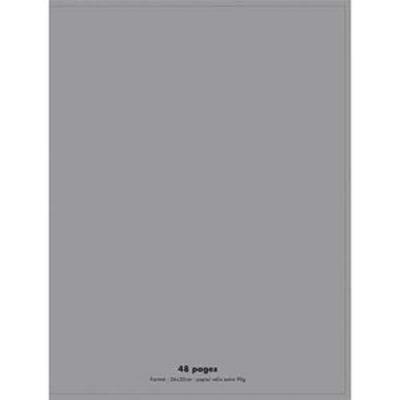 Lot de 10 Cahiers piqûre, 96 pages, Seyès, Format 17 x 22 cm, Couverture polypro GRIS