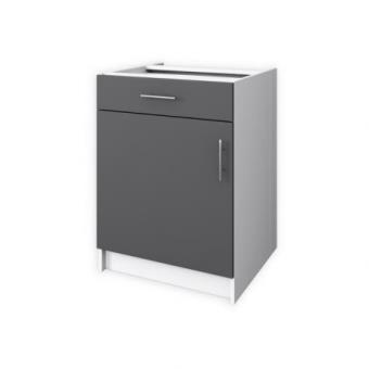 obi meuble bas de cuisine 1 porte 60 cm gris mat achat prix fnac