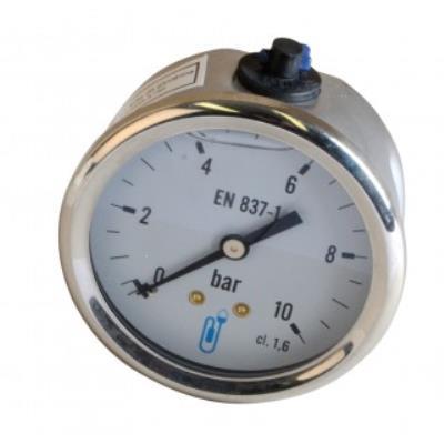 Manomètre axial glycérine 0-4 bar Ø 63mm