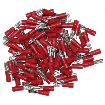 Cosses Electriques Femelles Rouges 2.8 Sachet De 100 Cosses