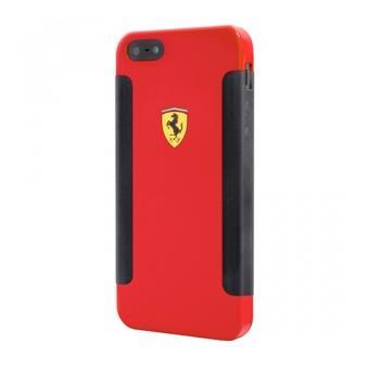 Coque Ferrari noire et rouge anti choc pour iPhone 5s