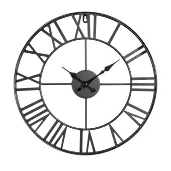 5 sur horloge murale vintage d 40 cm pendule ronde achat prix fnac. Black Bedroom Furniture Sets. Home Design Ideas