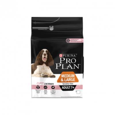 Pro plan - medium & large adult 7+ sensitive skin - 3 kg
