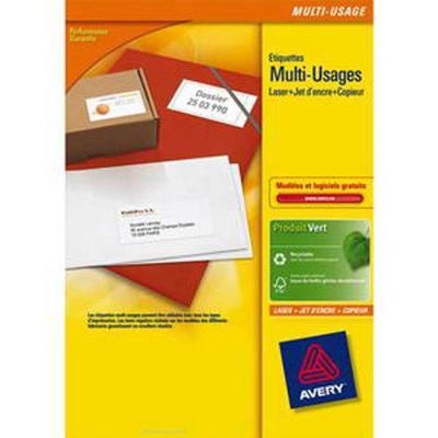 Boîte de 800 étiquettes blanches multi usages, 105 x 70 mm