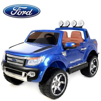 4x4 voiture quad lectrique enfant ford ranger 12v 2 places en simili cuir bleu avec. Black Bedroom Furniture Sets. Home Design Ideas