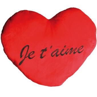Grand Coussin Coeur Amour Je Taime 60 Cm Couvertures