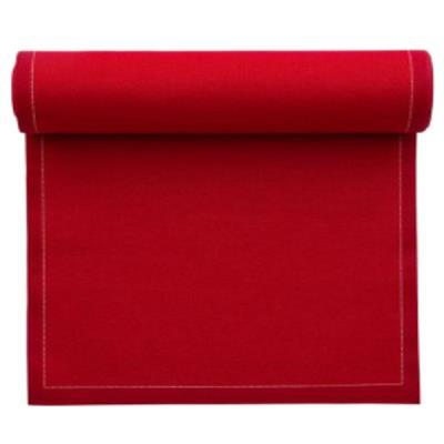 Rouleau MY DRAP de 12 sets de table en coton Rouge