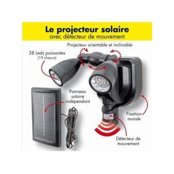 12 Sur Lampe Double Projecteur Solaire Orientable 38 Leds Avec