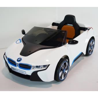 voiture lectrique enfant bmw i8 coup t l commande blanc v hicule lectrique pour enfant. Black Bedroom Furniture Sets. Home Design Ideas