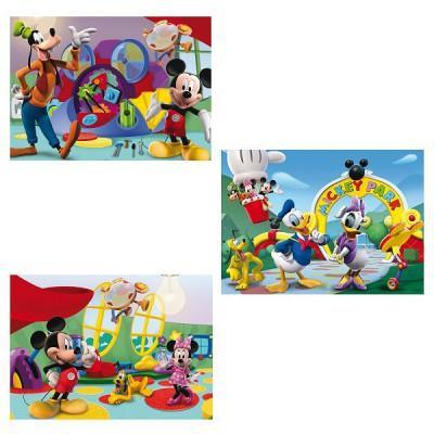 Clementoni - Puzzle 3x48 pièces - Mickey Mouse Club House