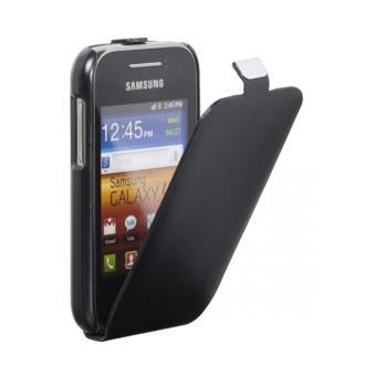 Housse etui coque Samsung Galaxy Y S5360 avec rabat noir - Etui ...