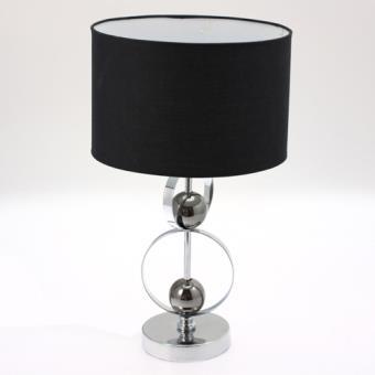 Lampe A Pied Avec Abat Jour Boules Et Cercles Metal Noir