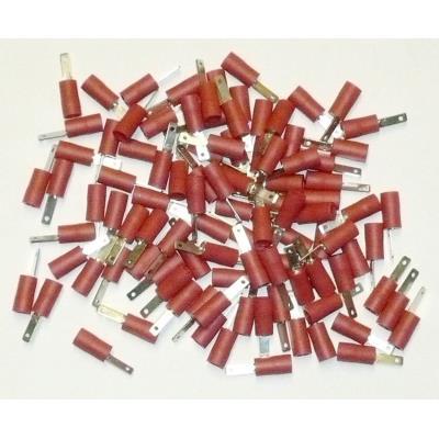 Cosses Electriques Males Plates Rouges 2.8 Sachet De 100 Cosses