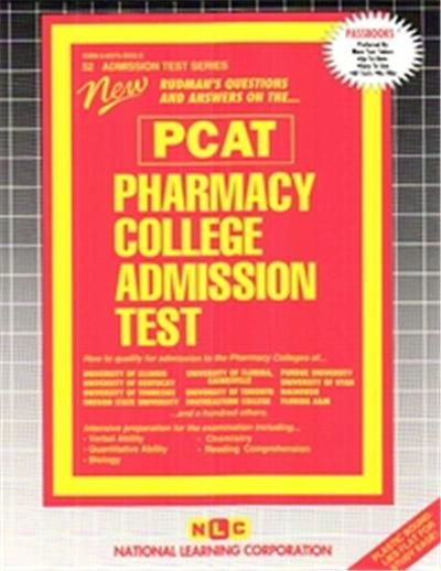 Pharmacy College Admission Test (Pcat, Admission Test Series
