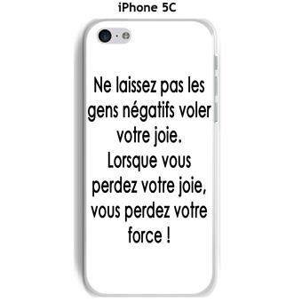 Coque Apple iphone 5C design Citation