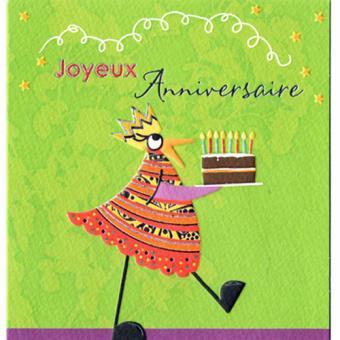 Carte Joyeux Anniversaire Verte Carte De Correspondance Achat Prix Fnac