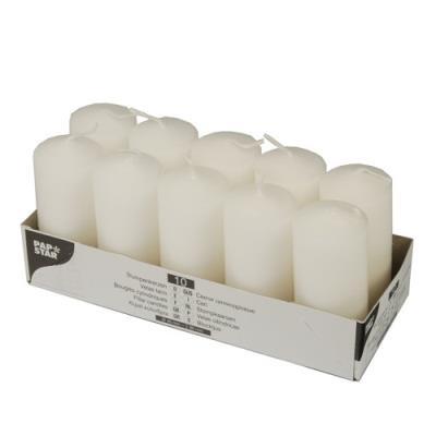 10 bougies - ø 40 mm x 90 mm - blanc
