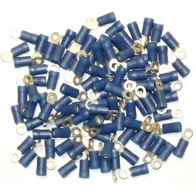 Cosses Electriques A Oeil De 3 Bleues Sachet De 100 Cosses