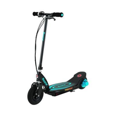 Roulez jusqu'a 18 km/h en toute sécurité avec la patinette électrique RAZOR PowerCore E100. Son nouveau moteur intégré a la roue arriere offre plus de puissance, de stabilité et plus d'autonomie, 80 minutes en utilisation continue ! Légere et sans entreti