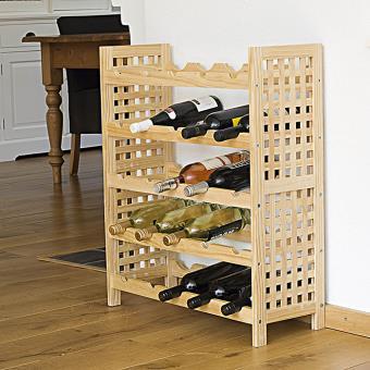 meuble range bouteilles en noisetier achat prix fnac