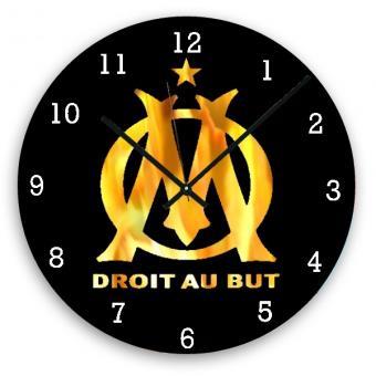 Horloge Om horloge murale foot olympique marseille om 1, pendule et horloge